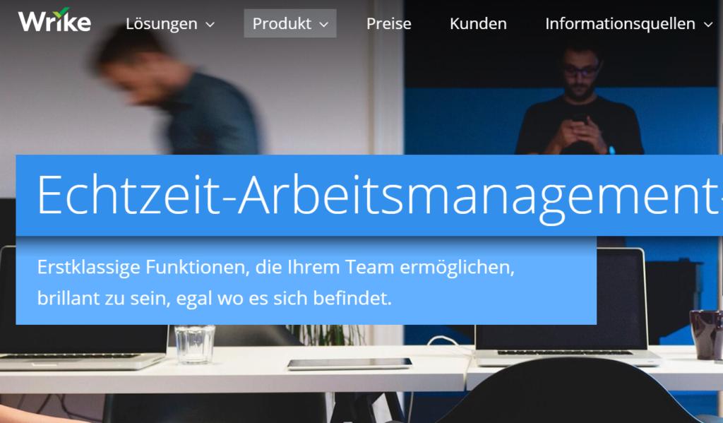 Wrike ist eine Projektmanagement-Software, mit der Projekte planen und Projekte verwalten für Ihre Teams ganz einfach wird